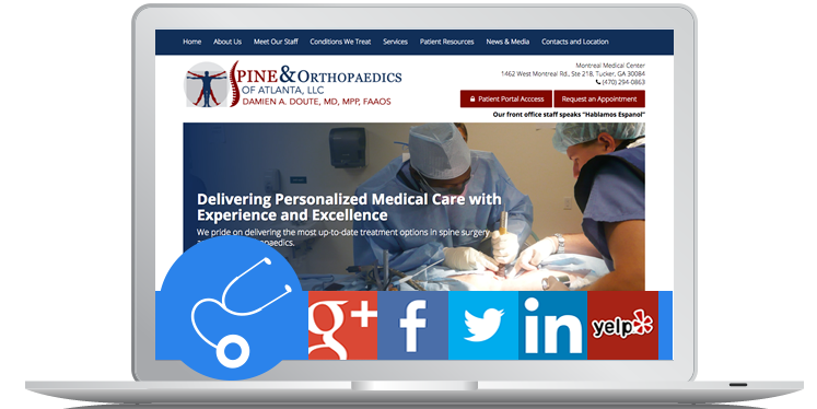 Neurosurgery Orthopedics Pain Medicine Website Design